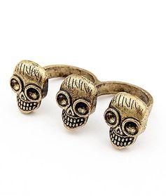 Кольцо с черепами E81629