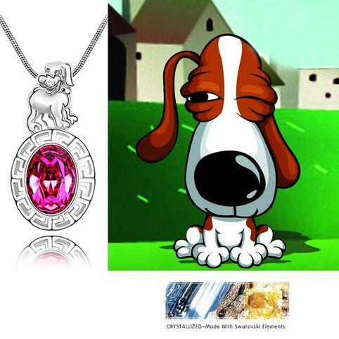 Собака  кристаллы Swarovski Swarovski® Elements