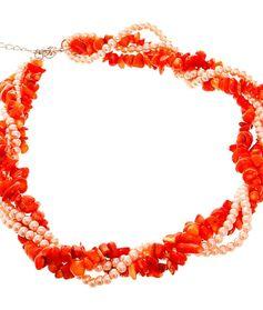 Колье Коралл оранжевый