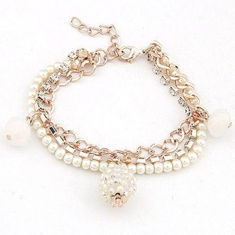 Bright beads pendant bracelet Бижутерия