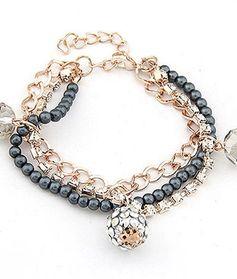 Bright beads pendant bracelet