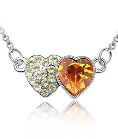 Double heart   кристаллы Swarovski