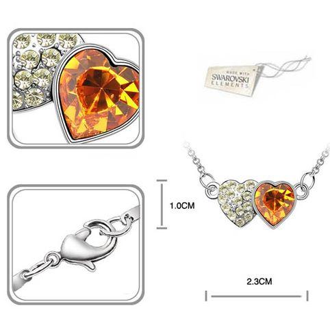 Double heart   кристаллы Swarovski Swarovski® Elements